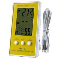 Цифровой термометр-гигрометр DC-105 с выносным датчиком температуры
