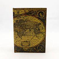 Шкатулка сейф - Карта мира 22 см