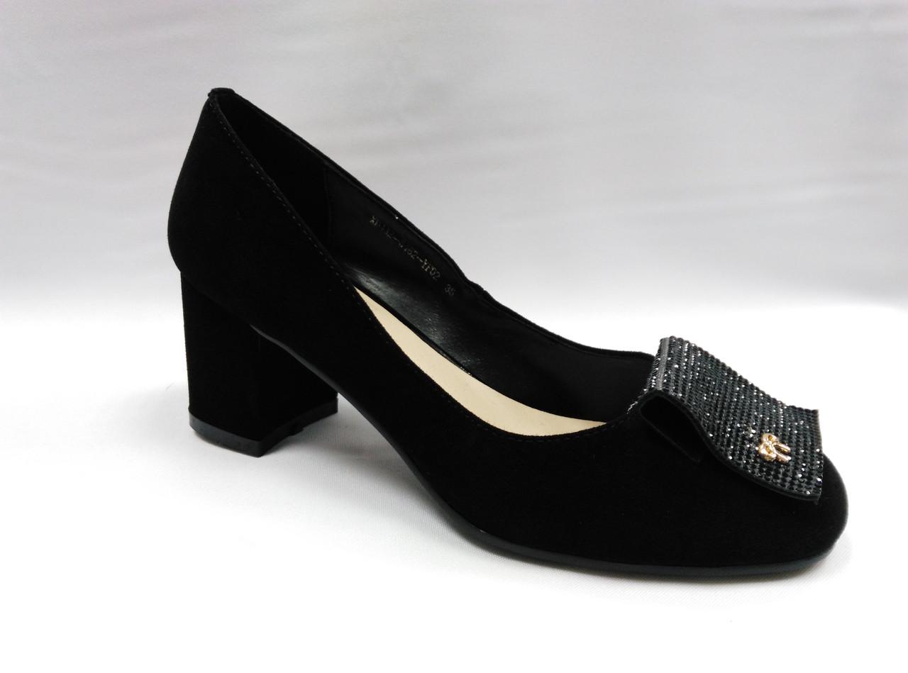 Туфлі замшеві Erisses на підборах.Маленькі розміри.