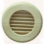 Вентиляционная деревянная круглая решётка  в сауну