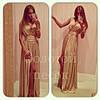 Платье вечернее Золото Ян   $