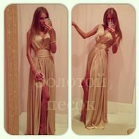 Платье вечернее Золото Ян   $, фото 1