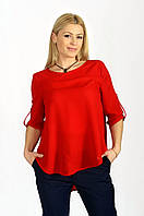 Блузка свободная красная