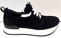 Кроссовки женские стильные замш черные Uk0194