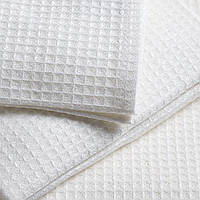 Вафельное полотенце белое 75х36