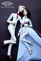Пара свадебных портретных кукол на заказ по фото