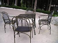 Кованые столы и стулья модель №2