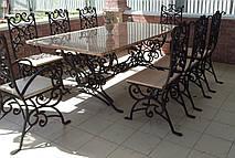 Кованые столы и стулья модель №3