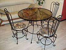 Кованые столы и стулья модель №4