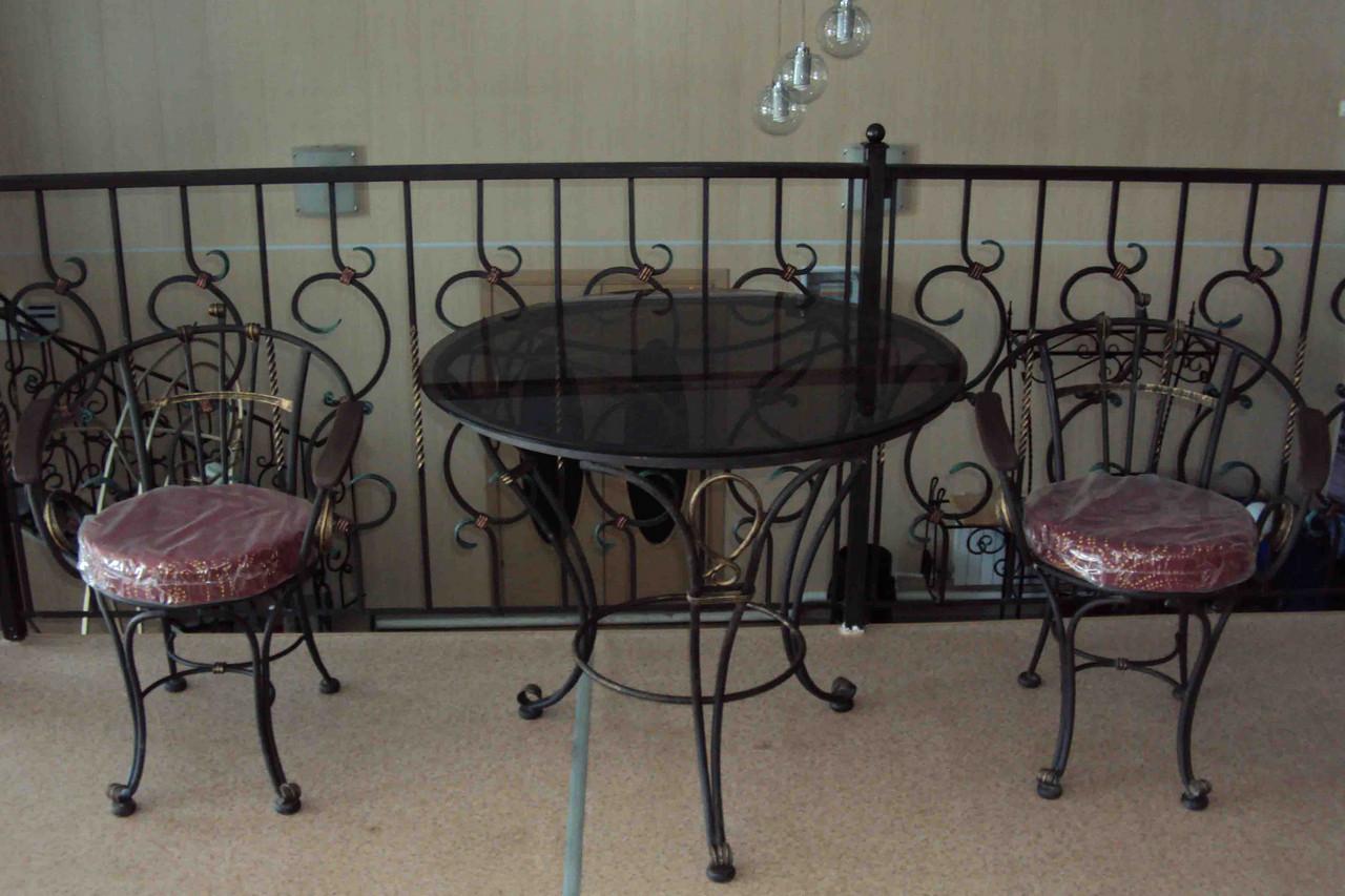 Кованые столы и стулья модель №8