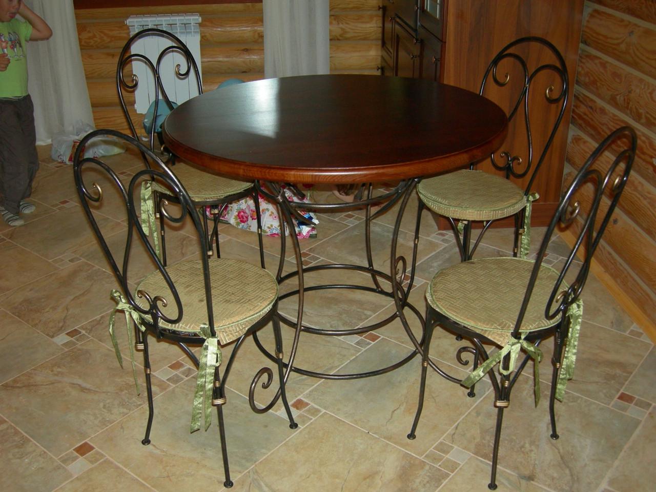Кованые столы и стулья модель №16