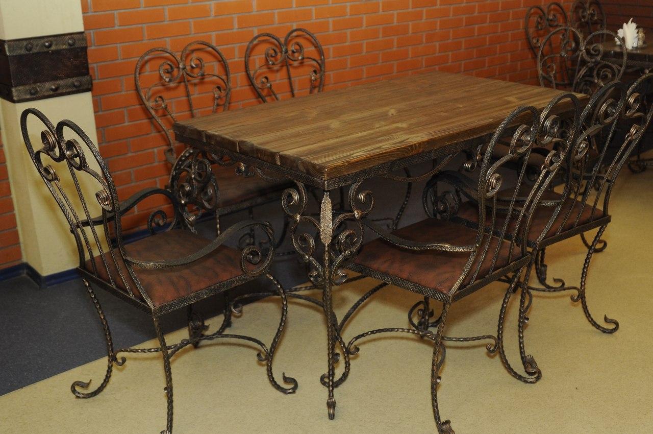 Кованые столы и стулья модель №24