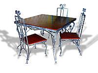 Кованые столы и стулья модель №38