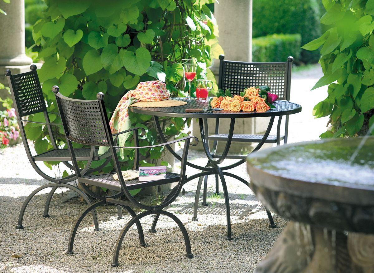 Кованые столы и стулья модель №130