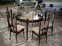 Кованые столы и стулья модель №136