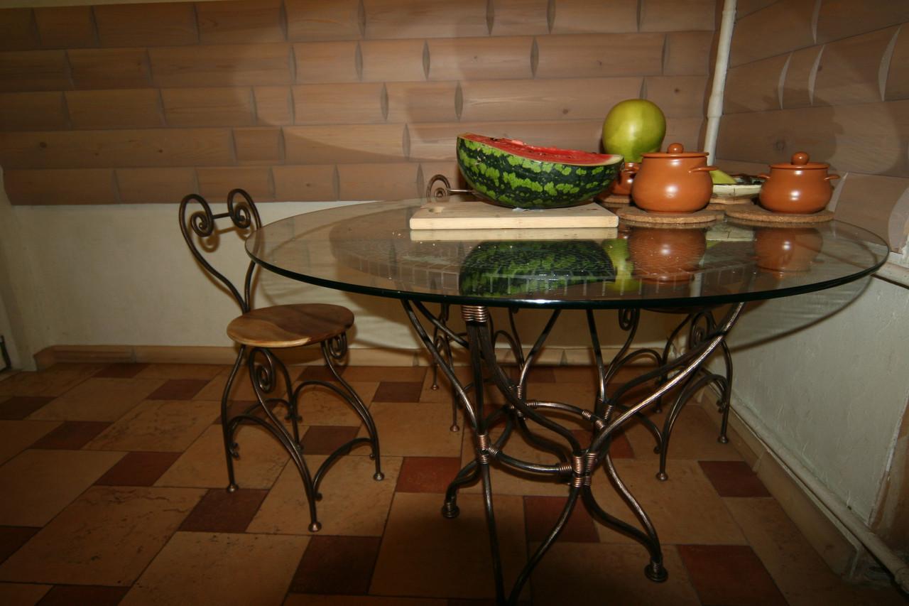 Кованые столы и стулья модель №138