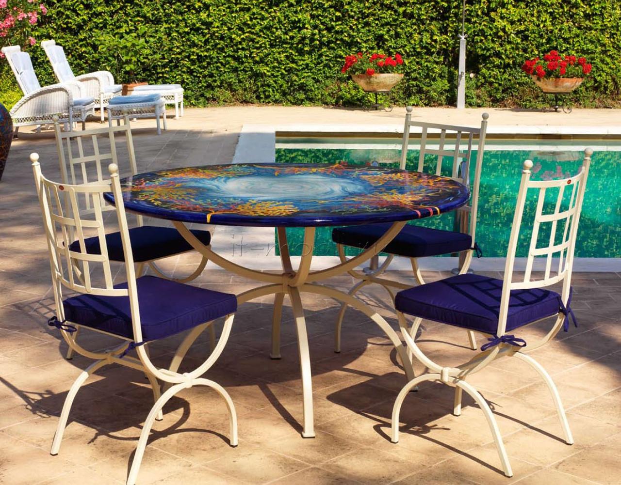 Кованые столы и стулья модель №102