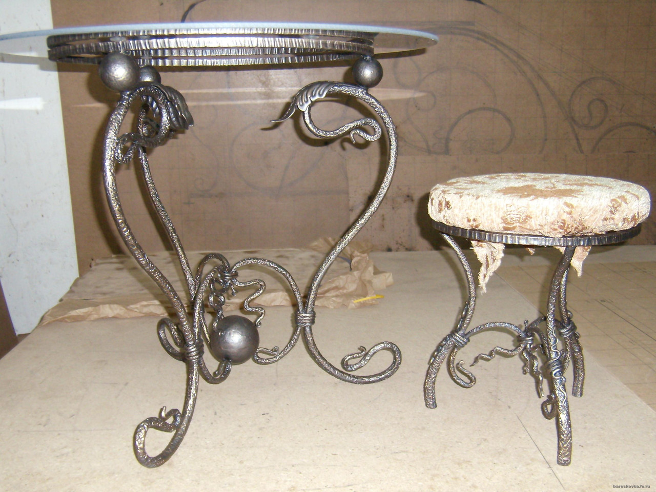 Кованые столы и стулья модель №103