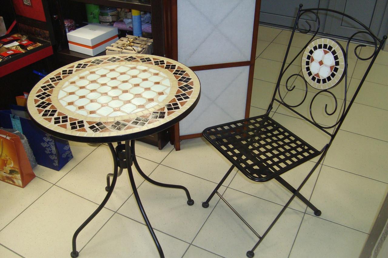 Кованые столы и стулья модель №104