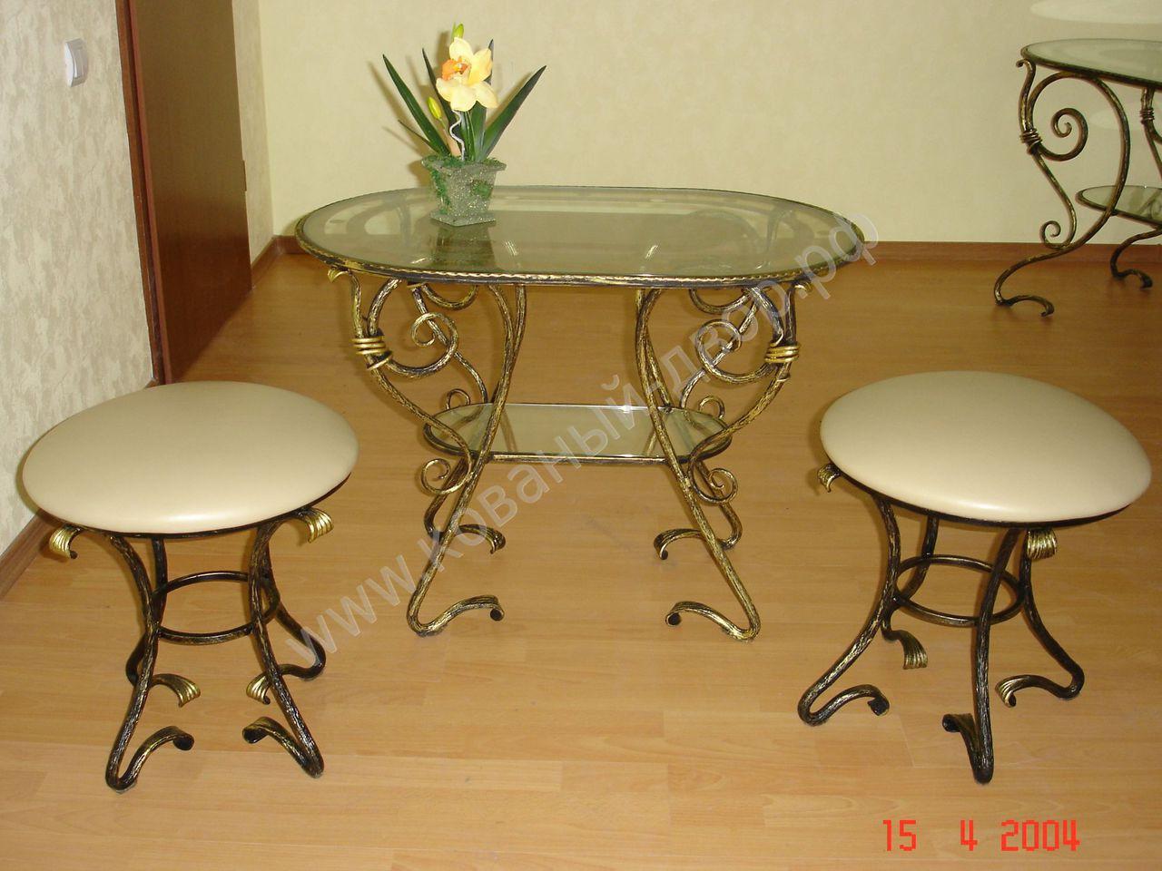 Кованые столы и стулья модель №109