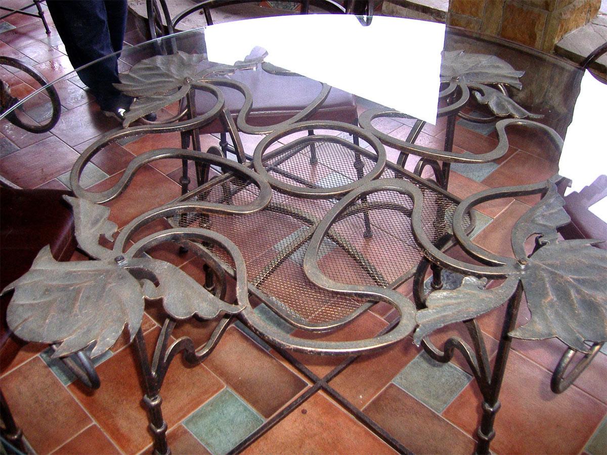 Кованые столы и стулья модель №187