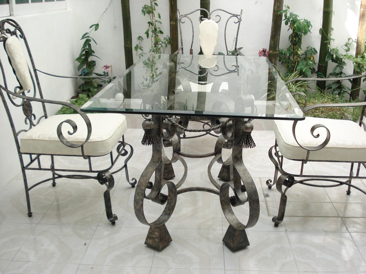 Кованые столы и стулья модель №199