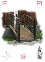 Кованые садовые мостики