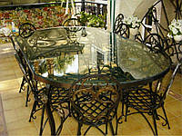 Кованые столы и стулья модель №285