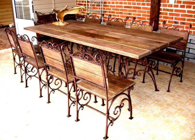 Кованые столы и стулья модель №289