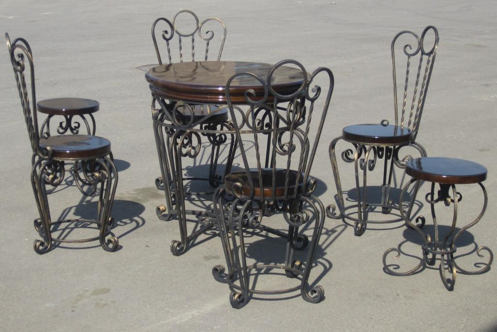 Кованые столы и стулья модель №297