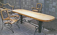 Кованые столы и стулья модель №306