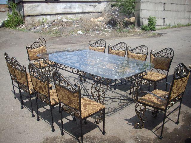 Кованые столы и стулья модель №311