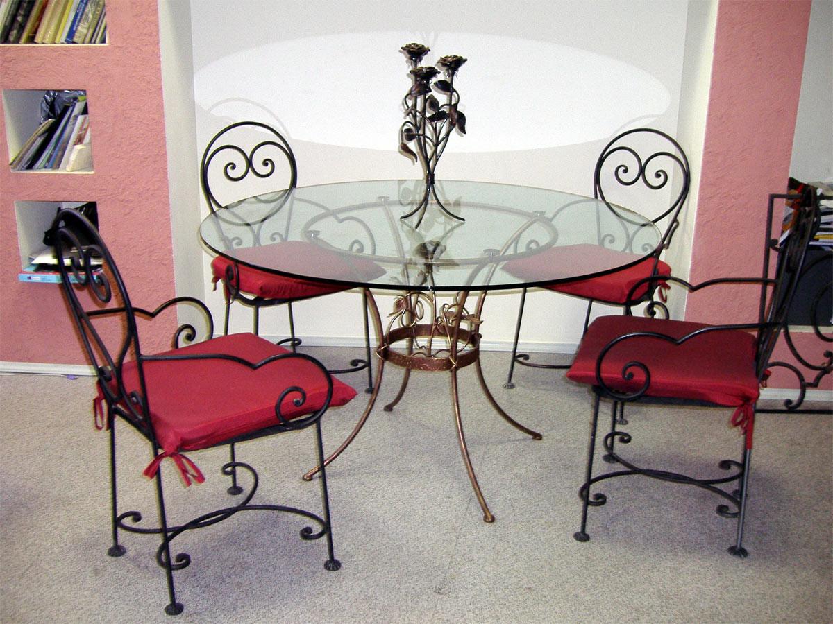 Кованые столы и стулья модель №313