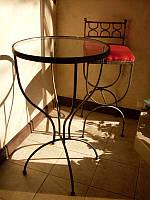 Кованые столы и стулья модель №322
