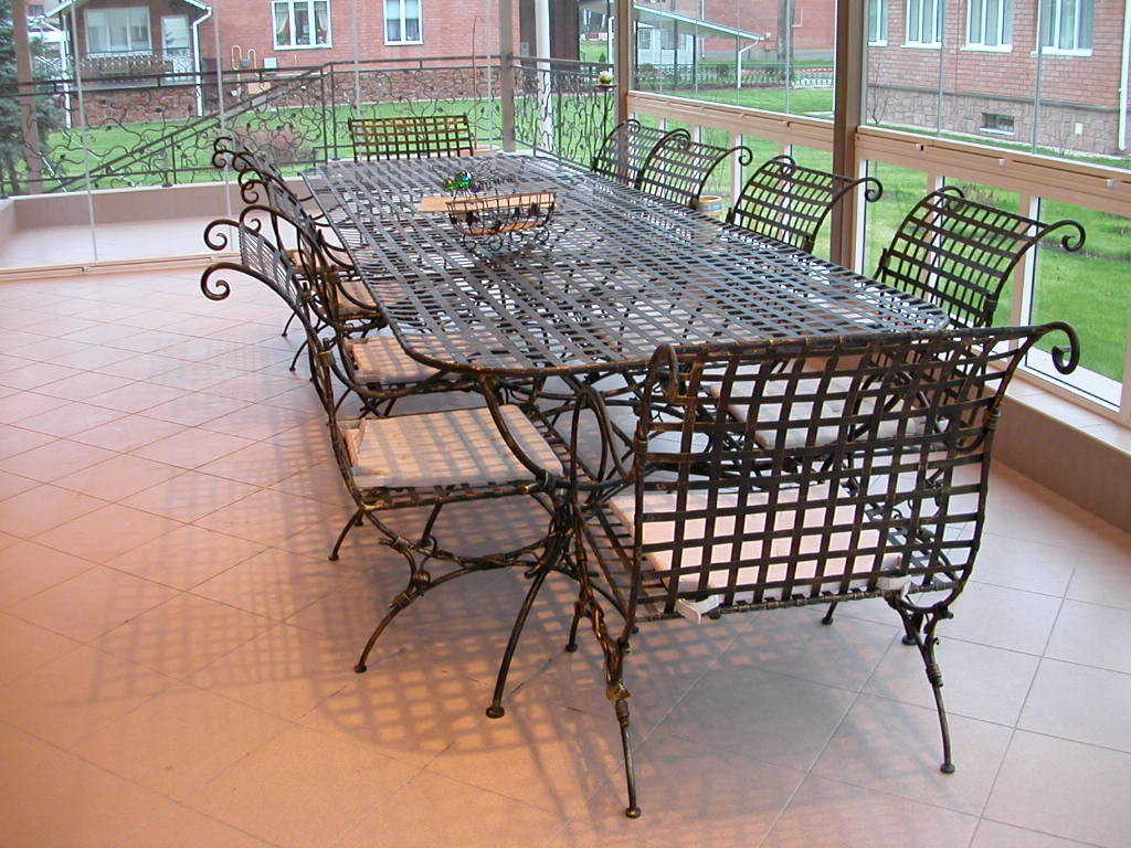 Кованые столы и стулья модель №375