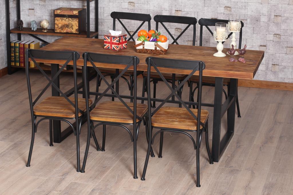 Кованые столы и стулья модель №376