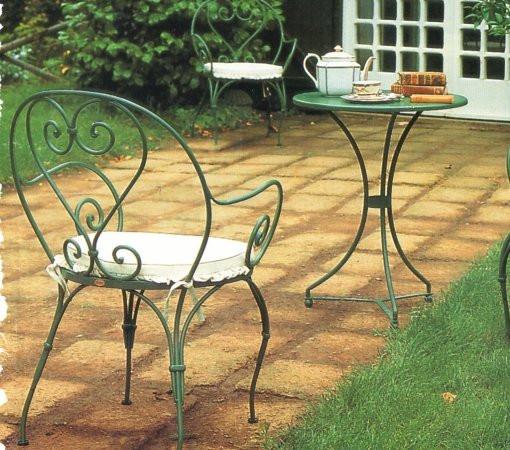 Кованые столы и стулья модель №355