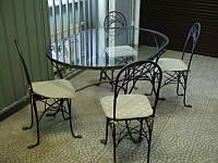 Кованые столы и стулья модель №371