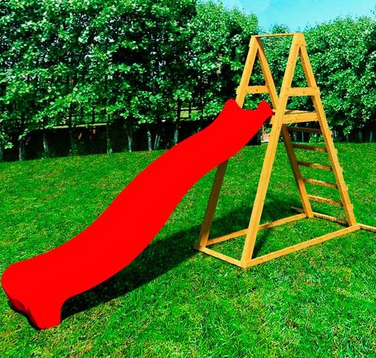 Дитячий дерев'яний майданчик DELTA з пластиковим спуском 3 метри