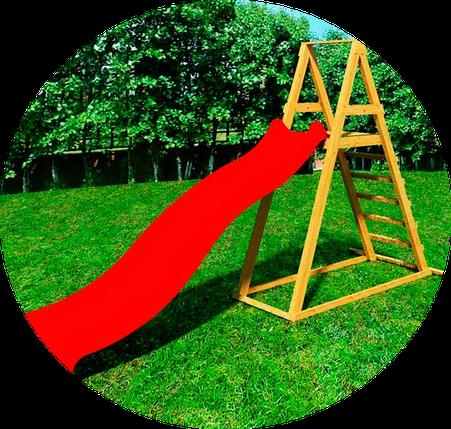 Детская деревянная площадка DELTA с пластиковым спуском 3 метра, фото 2