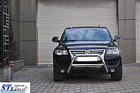 Volkswagen Touareg 2002-2010 гг. Кенгурятник WT005 Colt (нерж)