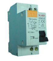 Диф. авт. выкл. SDZ267LE 1P+N 16А 10мА 4,5kA х-ка C электронный Solard