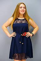 Маки. Платья супер батал. Синий., фото 1