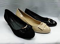 Туфли на низком каблуке  в 3 вариантах. Большие размеры.