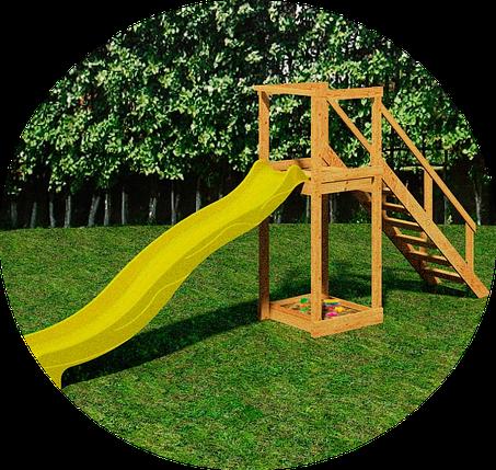 Детская площадка TOWER с пластиковым спуском для горки 3 м., фото 2