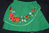 Детская зеленая юбка
