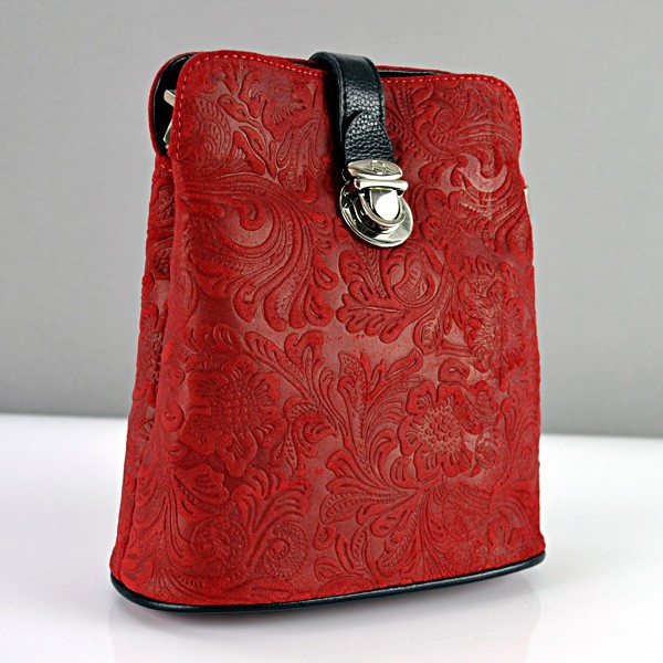 Сумка малая кожаная женская красная Desisan 358-12