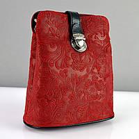Сумка малая кожаная женская красная Desisan 358-12, фото 1