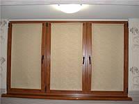 Рулонні штори тканина Лазур в полоску