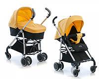 Акция! Скидка  40% .  Детская коляска 2 в 1  Geoby .  D613R желтая. Вес 11, 7кг.